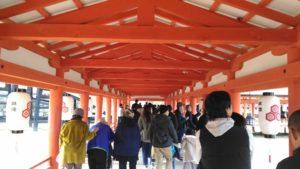 厳島神社 廊下