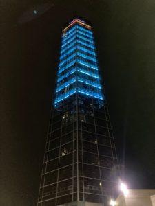 ゴールドタワー 夜